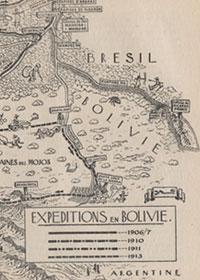 Mappa della spedizione di Fawcett